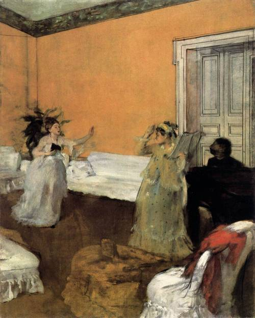 le-desir-de-lautre: 1872-3 Edgar Degas (French Impressionist, 1834-1917) ~ The Song Rehearsal; oil on canvas, 81 x 65 cm; Dumbarton Oaks Research Library and Collection, Washington, D.C., USA