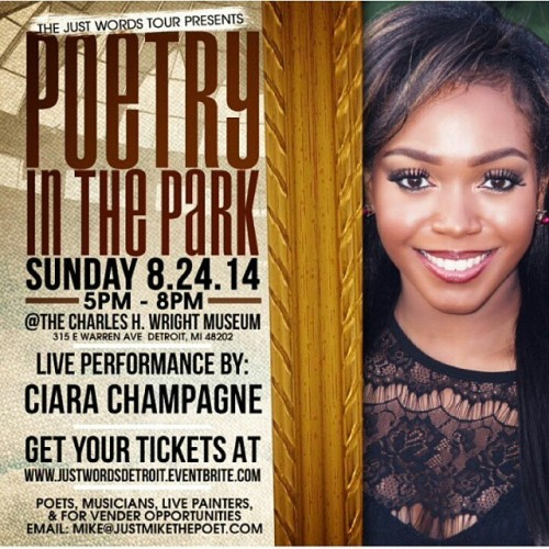 Come out tomorrow and support @ciarachampagne #supportdetroit #Detroit #poetry