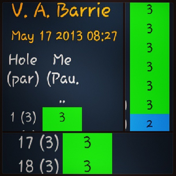 I thought I should start keeping score. #DiscGolf #DiscGolfEveryDay  (at V. A. Barrie Park)