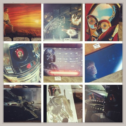 Some really cool Star Wars paintings. I want one but they were $485.