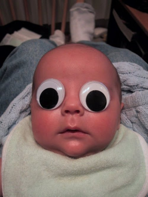 "Googly Eyed Baby is Only Slightly Terrifying ""When a man and a woman love each other (and arts and crafts) very much…"""