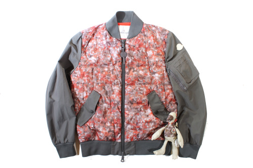 moncler future heritage biggun jacket. that print is a pic of the killing floor of a down  factory.