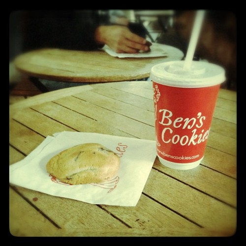 My first Ben's cookie + milkshake in Covent Garden #london #yum