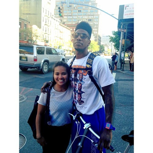 ✨So star-struck✨ #shumpert #knicks #WaitWhaaaaa