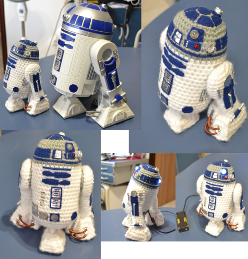 Mini R2D2 amigurumi by ~MiaHandcrafter on deviantART