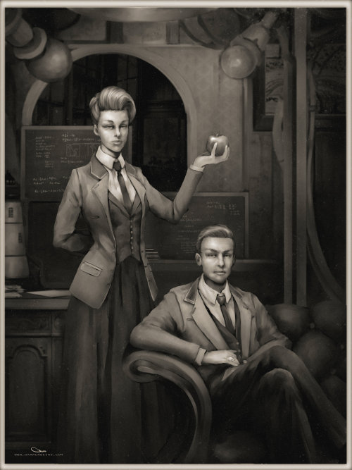 Rosalind and Robert Lutece by Darren Lim Geers Artist website / deviantart