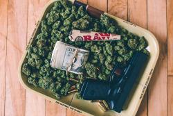 chicago weed marijuana America gun glock .40