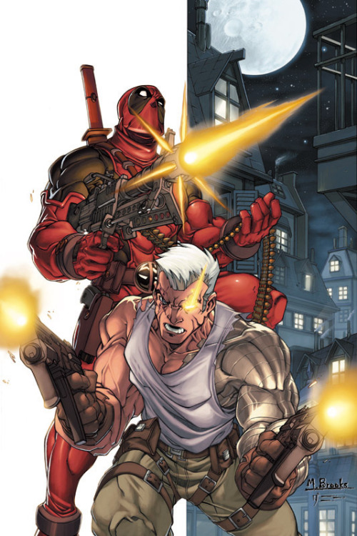 dead2dapool:  Deadpool-Cable promo piece by `diablo2003