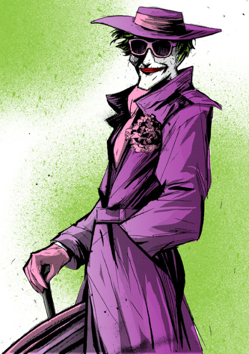 theofficialjoker:  Joker by ~eraserhead1972  now if those were kanye shutter shades this pic would be aces