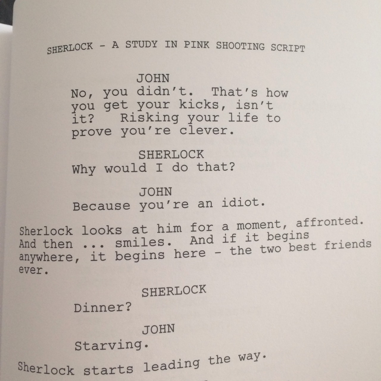 """the-blog-of-a-nerdy-fangirl:  221bsherlock:  """"the two best friends ever"""" aka the most adorable line in the ASIP transcript   OH MY HEART  """"best friends"""""""