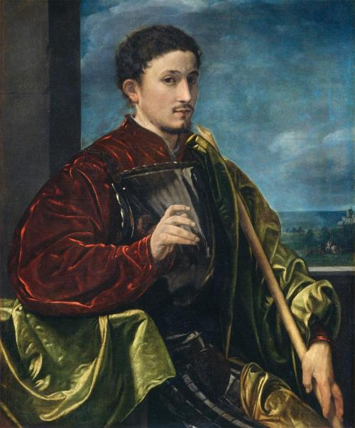 Giovanni Gerolamo Savoldo (Italian; 1480/85–after 1548) Portrait of a Knight Oil on canvas, ca. 1525 The National Gallery of Art, Washington, D.C.