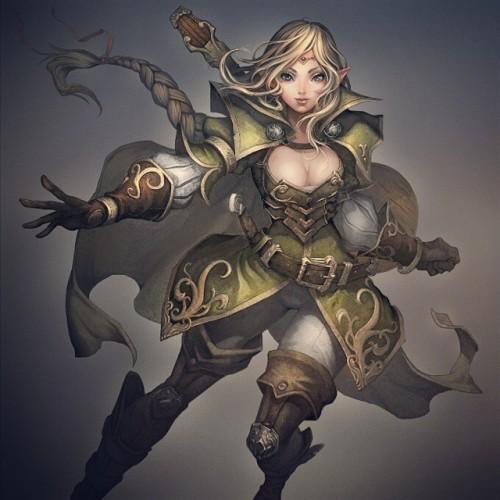 Me gustaron mucho estos conceptos que hice para DeNa :} #illustration #art #elf #bard #DungeonsAndDragons #Girl  #digitalcolor #wacom #photoshop #illustration#photoshop#art#elf#dungeonsanddragons#digitalcolor#bard#wacom#girl