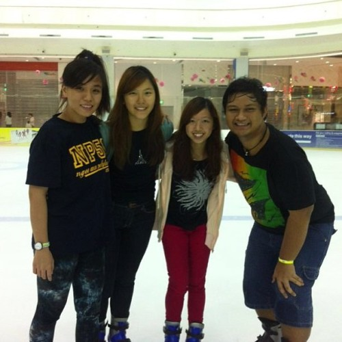 Ice skating with Eileen, Zamzam & Abbey!