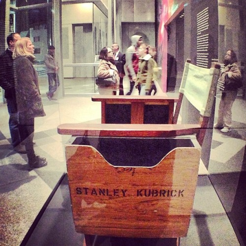 Stanley Kubrick exhibit. Director's Chair. #lacma #endofphotobomb :)