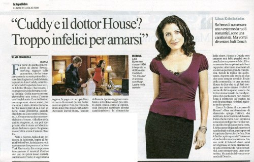 Lisa Edelstein @ La Republica, July 2009