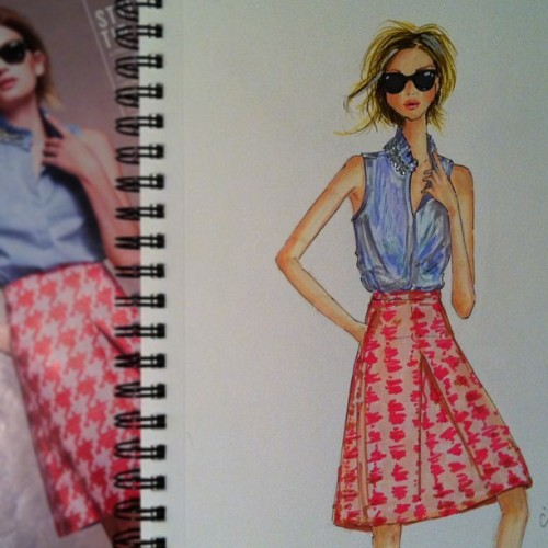 illustrationsbyanum:  jcrew