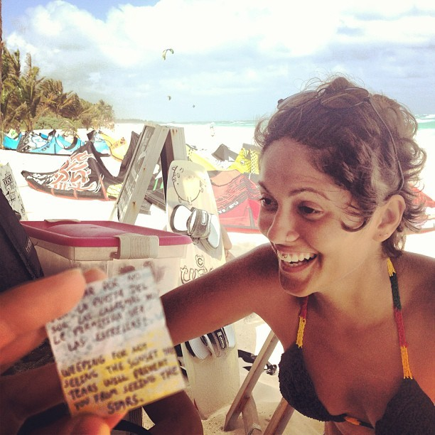 this sweet brasileira brought me a fortune #tulum #mexico #beachlife #love #iphone5 #iphonography #caribbean #everystring #goodtimes