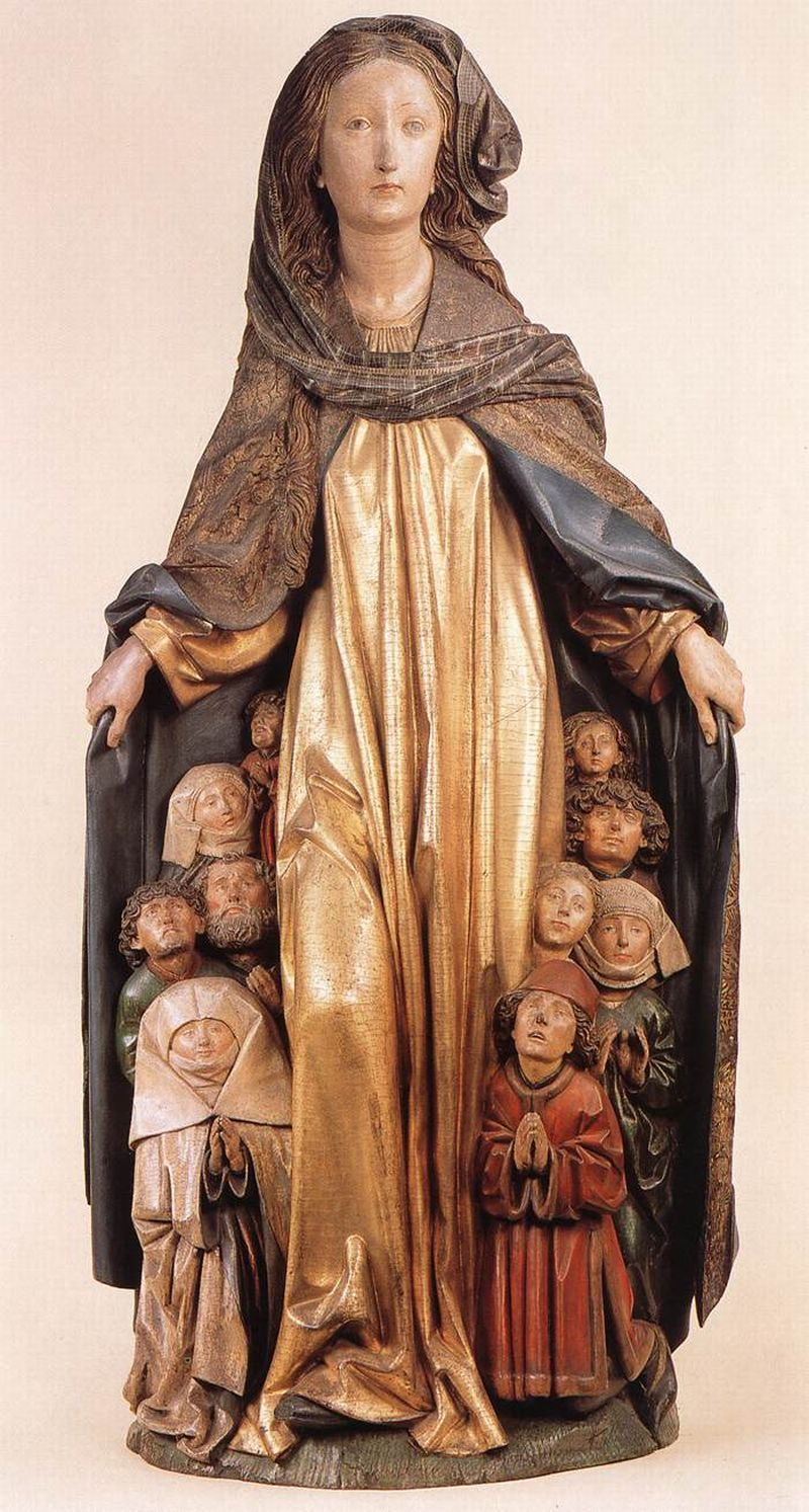 ERHART, Michael German sculptor (active 1469-1522 in Ulm) Ravensburg Madonna of Mercy 1480sPainted limewood, height 135 cmStaatliche Museen, Berlin