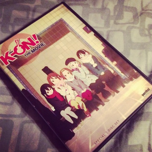 K-On!the movie! Been watching the second disc all day!!! #otaku #kon #kawaii #anime #yui #mugi #mio #azunyan #ritsu