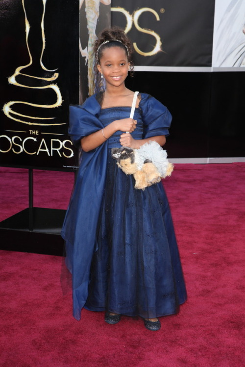 fashionistodiaries:  The Oscars Red Carpet 2013: Quvenzhané Wallis. Photo: New York Times.
