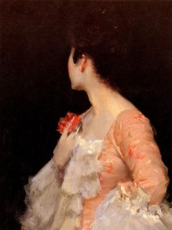 "tierradentro:  ""Portrait of a Lady"" (detail), William Merritt Chase."