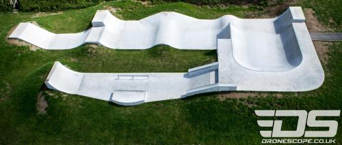 St Dennis Skatepark in Cornwall. Aerial photo byDroneScope