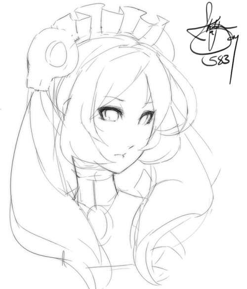 How do I made maid I can't draw moe. Just really tired tonight, since I got back home from Round 1 late.View Post