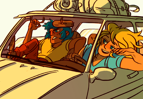this was a wonderful commission to do b/c im pretty much all about roadtrips, summertime, and the bronze seintos driving illegally (and also this pairing)!! hyoga's got control of the radio and this is definitely what he's jamming to. sorry it's not about brothers, ikki