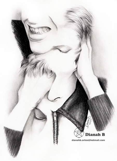 DECONSTRUCTION OF DAVID BOWIE 2012  by ~Dianah B  To buy this Artwork with Free Shipping Worldwide (only until 01/13/2013) click on the photo.