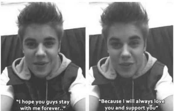 Justin Bieber - I'll never ever leave you no matter what @justinbieber