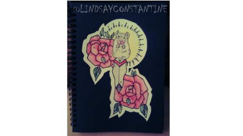One that i did for my BlackBook :) All watercolour @LINDSAYCONSTANTINE