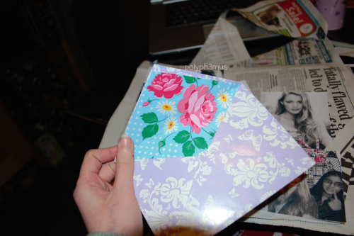 I made envelopes c: