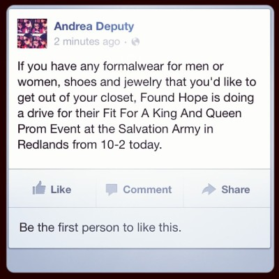#foundhope #king #queen #prom #charity #donate