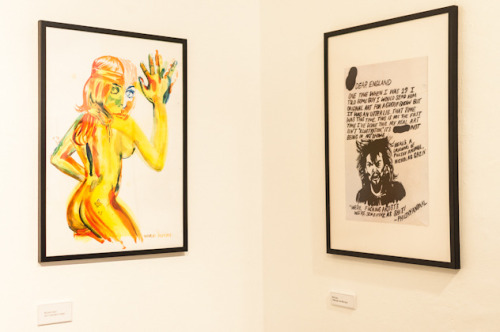 I had these two pieces in a show about illustration that Vice UK put on in London. I was supposed to do a new piece that they could sell as a print which is the image on the left. I was also supposed to mail in originals but I failed to do that and instead made a bizarre apology note with a drawing of Philthy Animal on it.