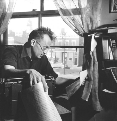 "Nelson Algren ""A certain ruthlessness and a sense of alienation from society is as essential to creative writing as it is to armed robbery."""