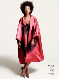 divalocity:  Previously Published Second Look from Solange Knowles' InStyle Magazine June 2013 editorial. Photographer: Kerry Hallihan Styling: Joan Blades Makeup: Karan Franjola