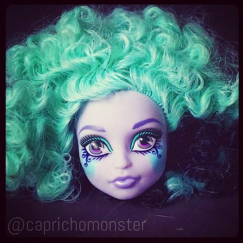 Cabeça da Twyla - Freak Du Chic… Essa make é de causar pesadelos ♥ #MonsterHigh #Mattel #Twyla #FreakDuChic