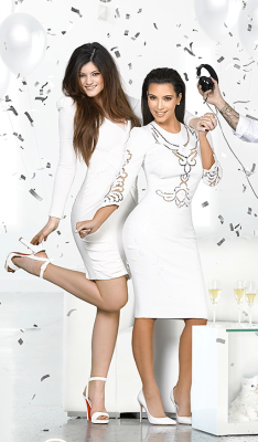 jenner-news:  A closer look of Kylie Jenner at the Christmas Holiday Card 2012