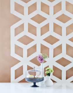 (via Steps One - Three - DIY: Modern Geometric Backdrop - Project Wedding)