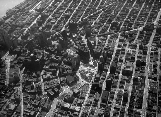 A bird's eye view of Detroit, 1929.