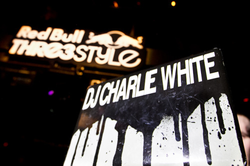 djcharliewhite:  2nd place at this years Red Bull Thre3style in Charlotte.   Peep the girl in the black and blue stripped dress twerking on her friend. Charlie White did that.