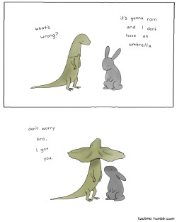 sofamermaid:  lizclimo:  what a nice guy.   Love the idea of rabbits with umbrellas.