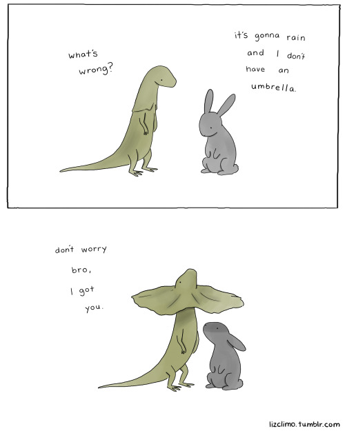 lizclimo:  what a nice guy.   Friendship.