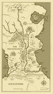 donieisoblivious:  Map of The Old Kingdom, from Garth Nix's Old Kingdom Trilogy.
