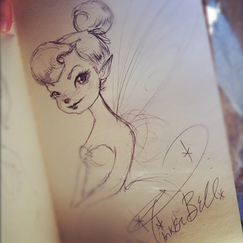 tink signed my sketchbook c: