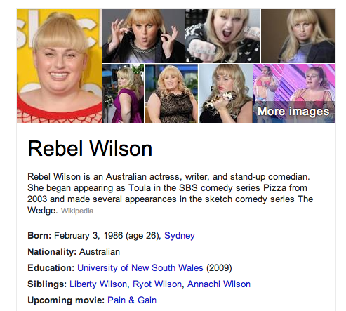 can we just take a second to honor the beautiful naming of Rebel Wilson and siblings.