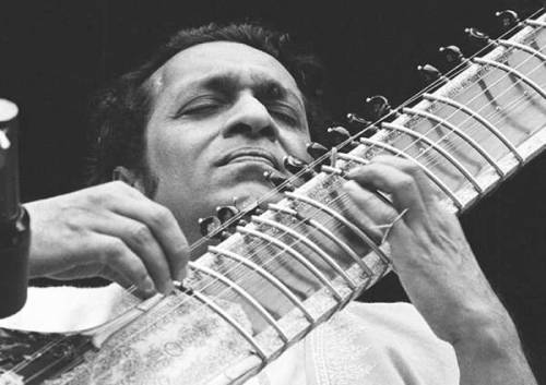 "rootsnbluesfestival:  R.I.P. Ravi Shankar Rest in peace Ravi Shankar. In your lifetime you earned the respect of millions of people. George Harrison was right. Ravi Shankar is worthy of ""Beatledom."""