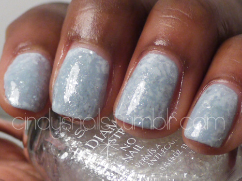 Daily/Weekly Nail Challenge #18: Ice Today's theme is ice! I went for a crystallized and cracked look. Check out Kelly's icy nails here! Colors Used Orly - Boho Bonnet China Glaze - Dandy Lying Around Sally Hansen - Glass Slipper