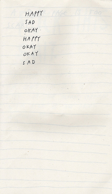 emptieds:  making lists, 2. by chelsea dirck on Flickr.