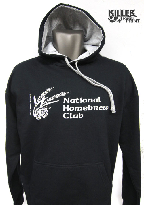 Hoodies for the National Homebrew Club.  Discharge ink on AWDIS hoods.  May 7th is National HomeBrew Day (USA). What will you be brewing?  http://www.nationalhomebrewclub.com/